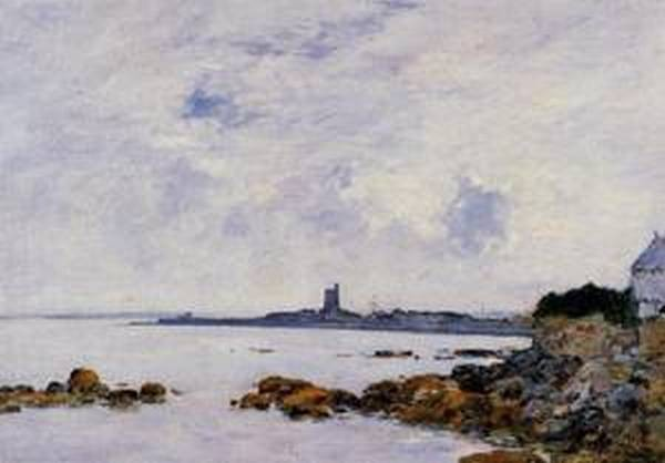 Saintg Vaast la Houghe the Rocks and the Fort 1892